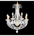 Crystal chandelier vector image