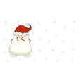 cute shy snowman with hidden hands vector image