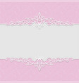 delicate frame in pink colors for wedding vector image vector image