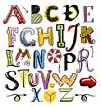 Doodle color alphabet
