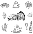 Doodle of Thanksgiving fruit vegetable food vector image vector image