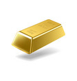 Fine gold ingot isolated on white background vector image vector image