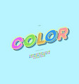 font color 3d bold style vector image vector image