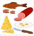Food in flat style vector image vector image