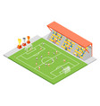 football stadium soccer concept 3d isometric view vector image vector image