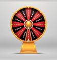 fortune wheel lucky number wheeling motion people vector image