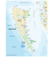 haida gwaii archipelago map canada vector image vector image