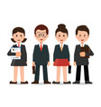 happy smiling business team in office vector image vector image