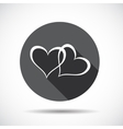 Heart Flat Icon with long Shadow vector image