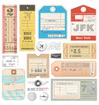 high quality grunge passport tags tickets vector image vector image