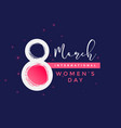 international womens day background vector image vector image