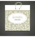 Lavender A flower template for paper vector image
