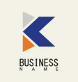 letter k business logo vector image