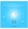 light bulb infographic background vector image vector image