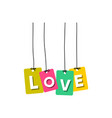 love word vector image vector image