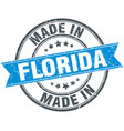 made in florida blue round vintage stamp vector image vector image