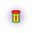 Male medicine icon comics style vector image vector image