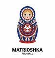 matrioshka or nesting doll isolated on white vector image vector image