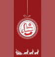 merry christmas greeting card flyer or design vector image vector image