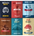 Mining Industry Posters Collection vector image vector image