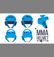 mma helmet sport game equipment icon vector image vector image
