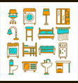 modern comfortable furniture in same colors vector image vector image