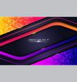 modern futuristic background on layer orange vector image vector image