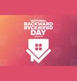 national backward day january 31 holiday concept