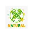 Natural Concept Natural Banner Natural Logo vector image vector image