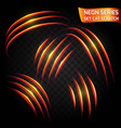 neon glow line in motion blurred edges vector image