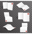 Paper white accordion different points of view vector image vector image