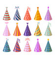 party caps colorful cartoon birthday and carnival vector image
