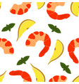 pattern with shrimp vector image