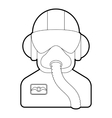Pilot icon outline style vector image