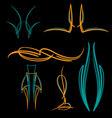 Pinstripe-038 vector image