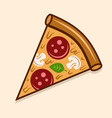pizza piece colored isolated vector image vector image