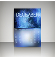 Polygonal 2016 calendar design for DECEMBER