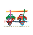 Railway train carriage vector image vector image