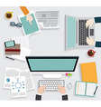 Realistic workplace vector image vector image