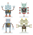 Robots flat icons Robot pictograms vector image vector image