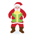 Santa Claus with present vector image