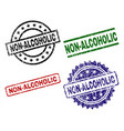scratched textured non-alcoholic stamp seals vector image vector image