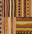 Set of color patterns primitive tribal pattern vector image