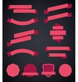 set of colorful empty retro ribbons and vector image vector image