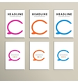 Set of four colorful speech bubbles vector image