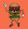 skull burger dance vector image