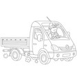 small fast truck vector image vector image