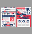 soccer sport stadium poster of football sport game vector image vector image