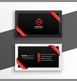 stylish red and black business card design vector image vector image
