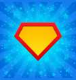 superhero symbol at bright background vector image vector image